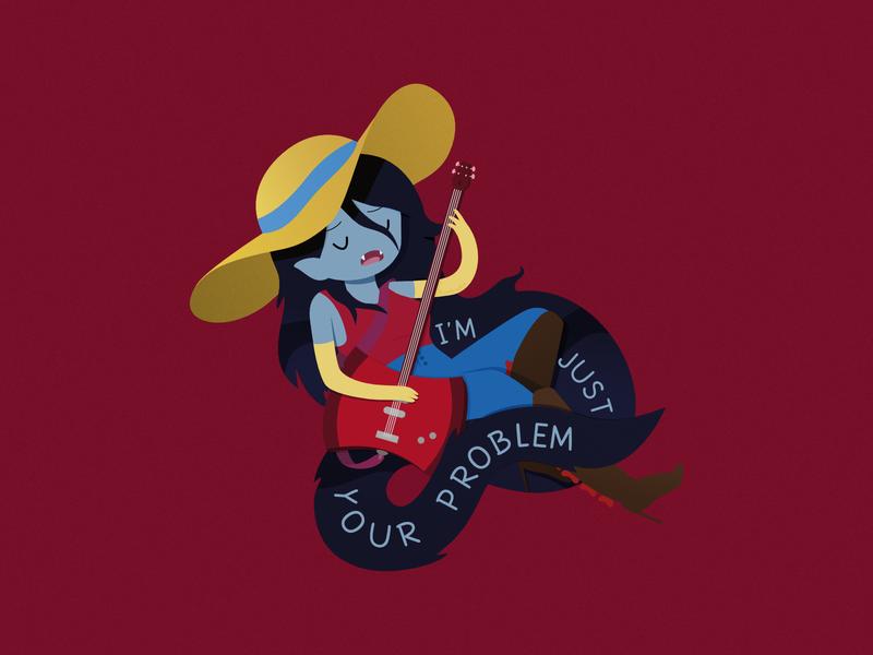 Marceline - Just Your Problem vampire vampire queen character cartoon affinity designer illustration vector fan art adventure time