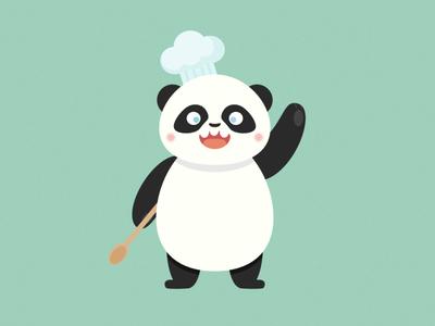 Chef Panda hello chef cook panda character affinity designer illustration cute vector