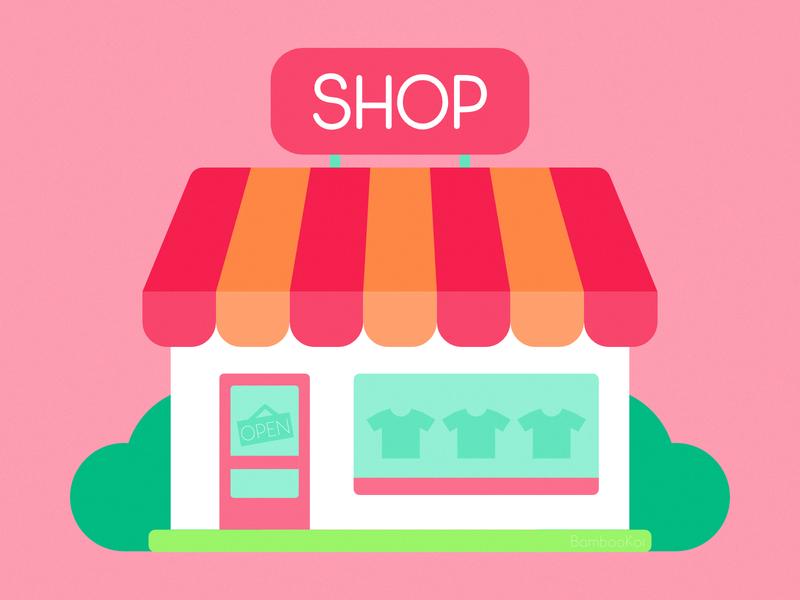 Flat Illustration - Shop flat icon storefront shopping store shop flat illustration flat design 2d affinity designer illustration cute vector