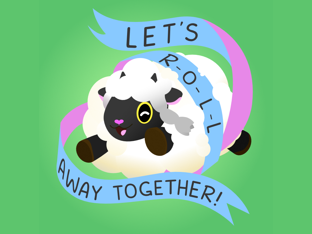 Wooloo illustration sheep affinity designer vector cute wooloo pokemon