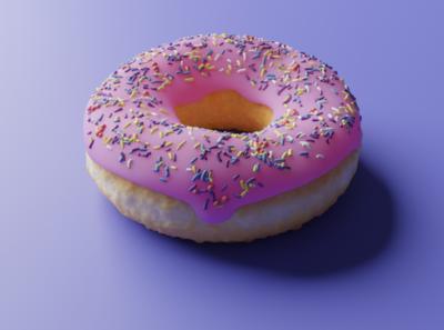 Blender Doughnut food sprinkles dessert blender3dart blender 3d 3d doughnut donut blender3d