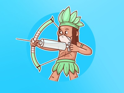 vaccine bow and arrow character ill vaccine