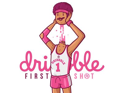 First Shot ;) basketball vector illustration character first shot debut dribbble