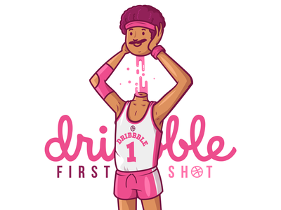 First Shot ;) basketball vector illustration character first shot debut dribbble
