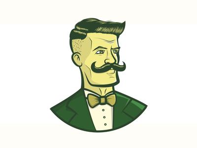 Master barber shop character illustration