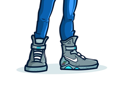 Marty Mcfly shoes illustration back to the future nike shoes mcfly