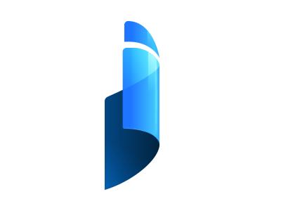 Logo i logo paper letter i