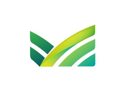 Logo M nature green farm letter m