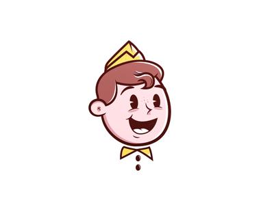 Ice crem face illustration logo candy ice cream
