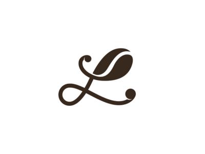 L Coffe typography branding design clean icon l letter l brand logo coffe coffee