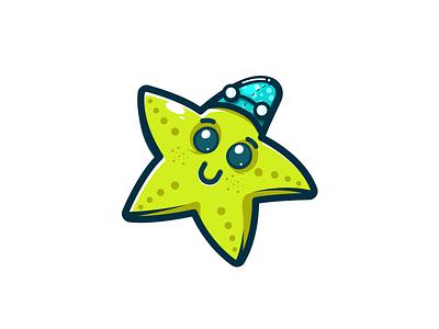 Starfish starfish star vector character design illustration