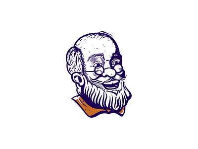 Grandpa oldman grandpa illustration vector character
