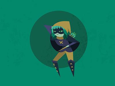 Huntress Wizard - Adventure Time illustration texture forest green time adventure wizard huntress