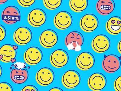 Best + Worst illustration fun emojis angry happy smiley smile emoji