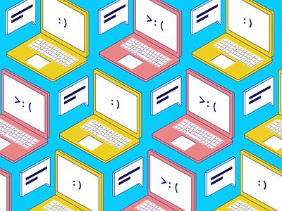 Best + Worst cute fun illustration expressive bad good emote macbook mac laptop computer