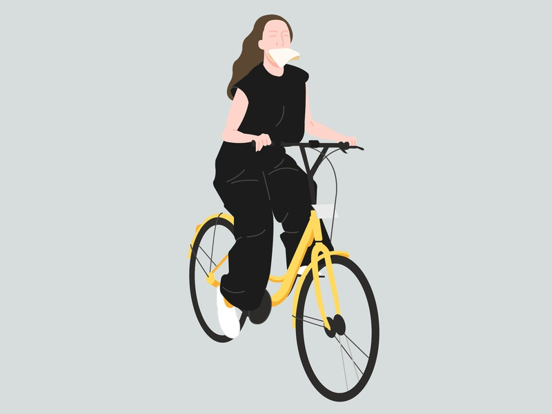 Women On Bicycle design vector illustration