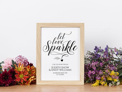 Free Classic Sparkler Send Off Sign Template