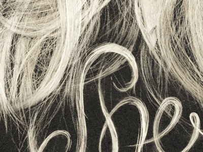 Hair Type pencil sketch