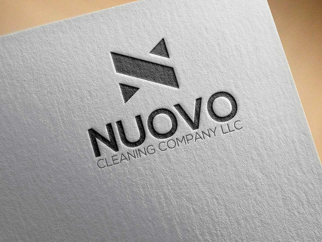 Nuovo Cleaning Company Logo web brand sketch clean website vector minimal logo illustration design identity flat