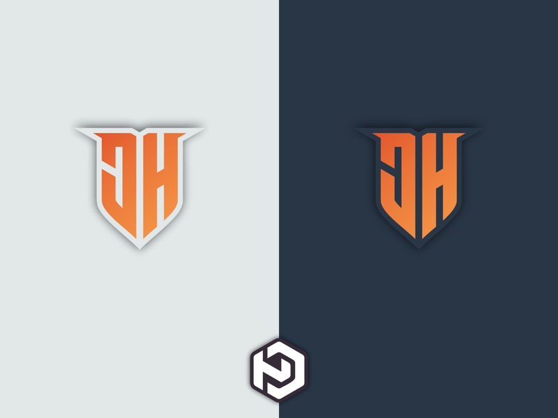 JH LOGO MONOGRAM DESIGN brandig logodaily monogram type branding vector logodesign icon design logo