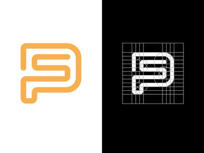 PS or SP LOGO MONOGRAM DESIGN simple design logos logodaily vector design monogram simple logodesign icon logo