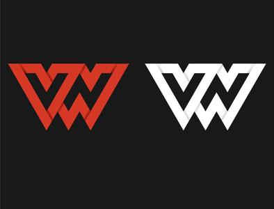 VW LOGO MONOGRAM DESIGN simple design logos simple monogram logodaily design vector logodesign icon logo