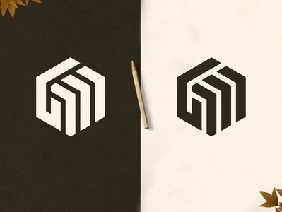 GM or GW LOGO MONOGRAM DESIGN branding simple design logos simple monogram logodaily design vector logodesign icon logo