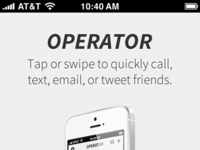 Operator Splash Page