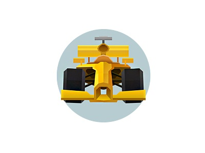 Racing icon icon flat racing car f1 speed round