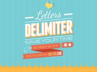 Letters Delimiter (PS Script)