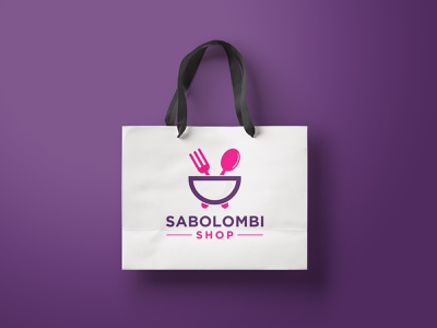 Food Logo Design - Shopping Logo cock flat market mall design bag creative shopping shop business marketing modern food food logo