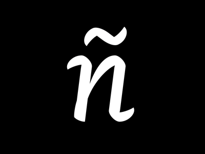 N (ñ) font design font letter typeface type art type design calligraphy lettering typography 36days 36daysoftype