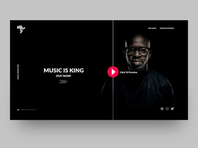 DJ Black Coffee personal web page design front end development front end design type ui ux branding