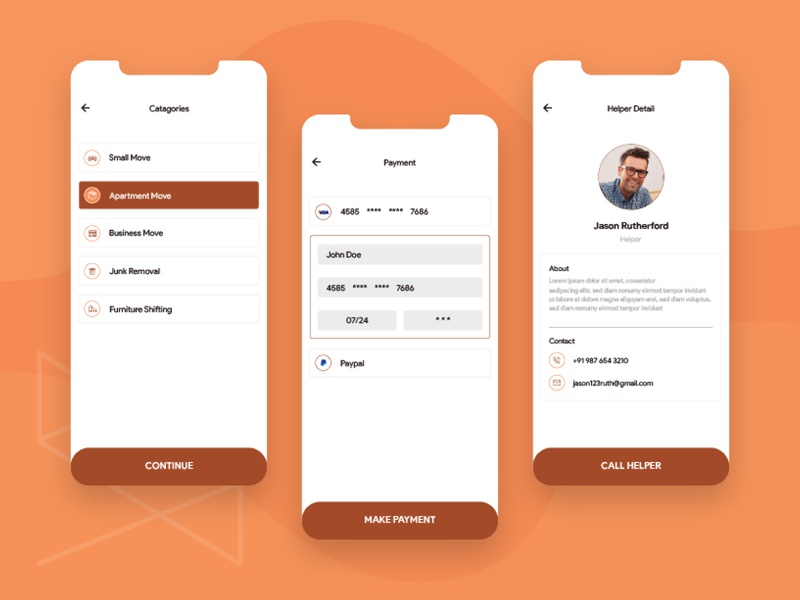Packers & Movers App Design uiux ui delivery app transport shifting product mobile app flat design concept delivery app design delivery branding concept android app ios app design app concept app like dolly