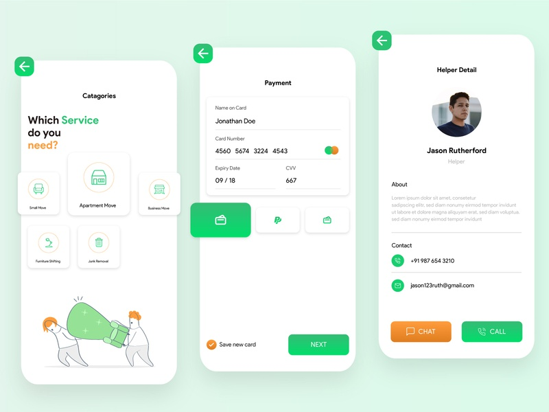 Packers & Movers App Design movers packers delivery illustrator mockup packers and movers mobile app appdesign mobile app design ui ux concept android app ios app design app