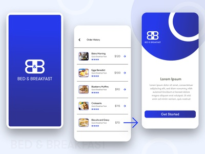 Breakfast Delivery App Design ux ui concept application mobile app appdesign