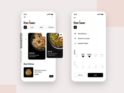Food Delivery App Design ui mobile app design ios app illustration food delivery app design food app design concept design app development app developer app designers appdesign app concept