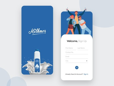 Milk Subscription App Design milk delivery app milk ios app illustration design delivery app design delivery concept application app design app android app