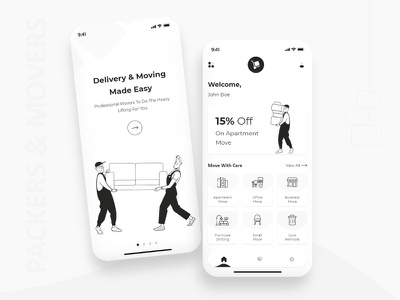 Packers and Mover App Design ios app design mobile app app designers uiux designs ux ui concept app conept app design app design concept mobile app design packers and movers app packers and movers app design