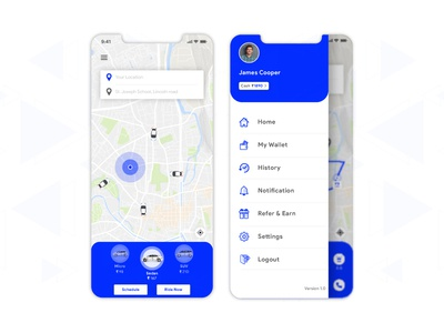 On-demand Taxi Booking App Designs