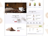 Coffee Website Design Concept