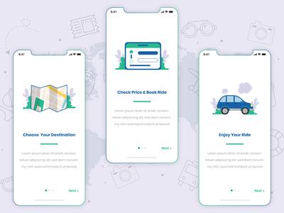 Taxi booking app concept