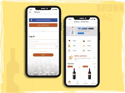 Liquor Delivery App Design