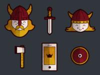 A Viking icon set