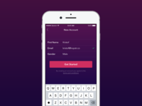 Daily UI challenge #001 – Sign Up
