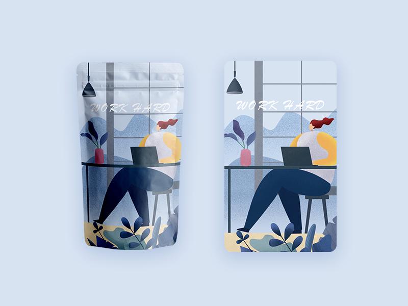 Product packaging design illustration