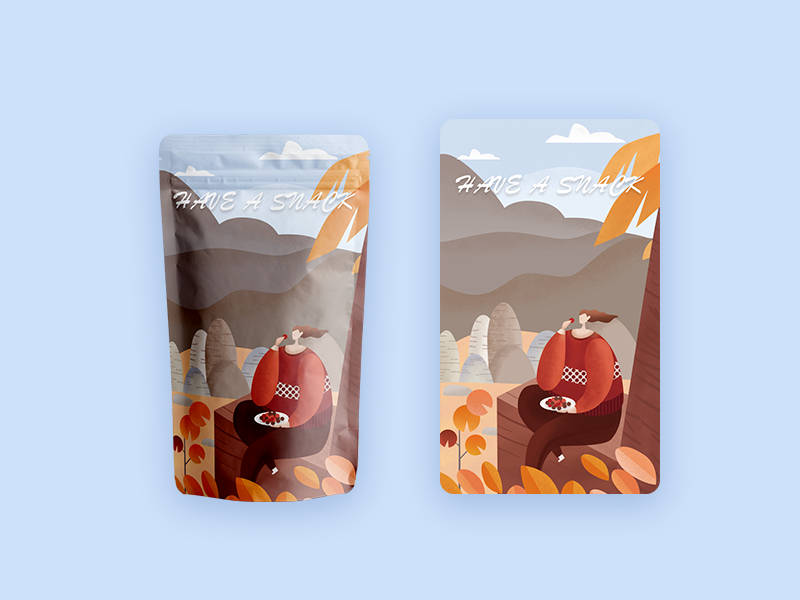 Product packaging illustration