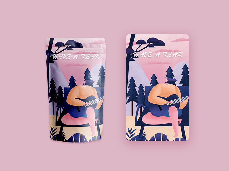 Product packaging design illustration