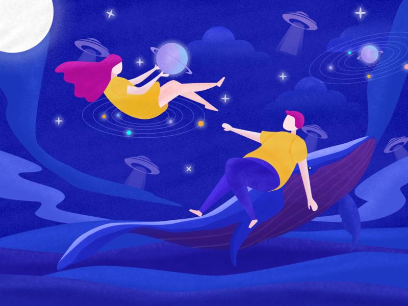 Dreamland design illustration