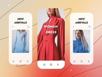 UI concept for online shop ios app mobile fashion style shop ui
